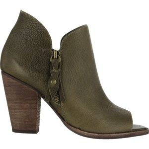MIA Ericka Booties Open Toe Boots Green 8.5